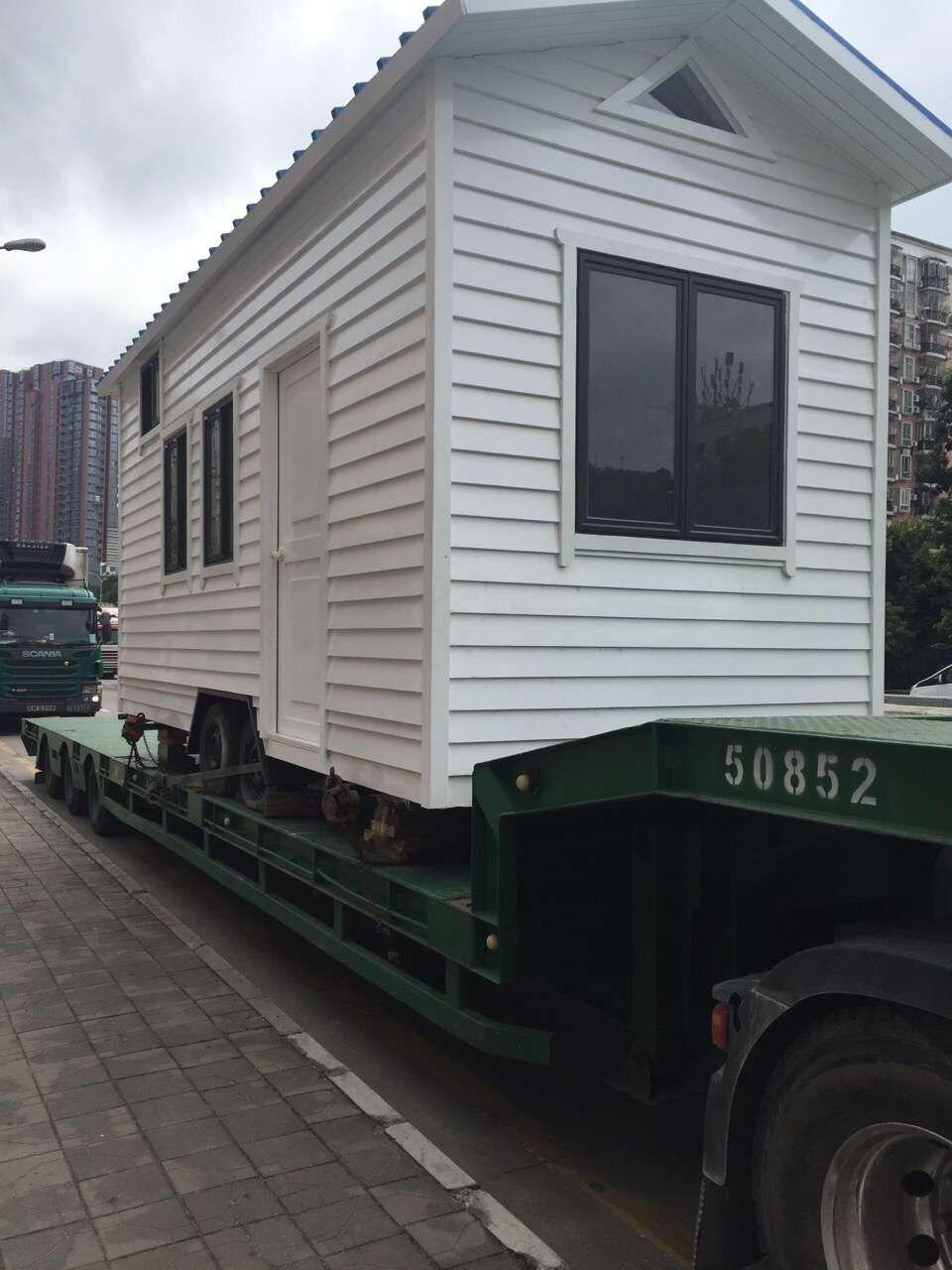 江门到香港物流专线,江门到香港移动房车运输案例